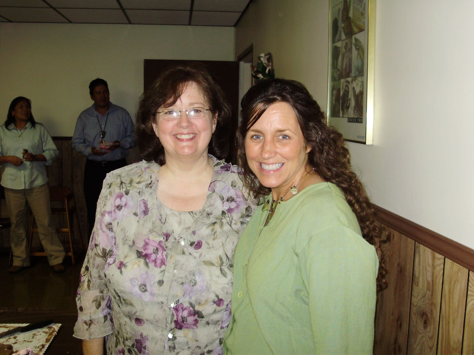 Michelle and Shirley, our Pastor's dear wife