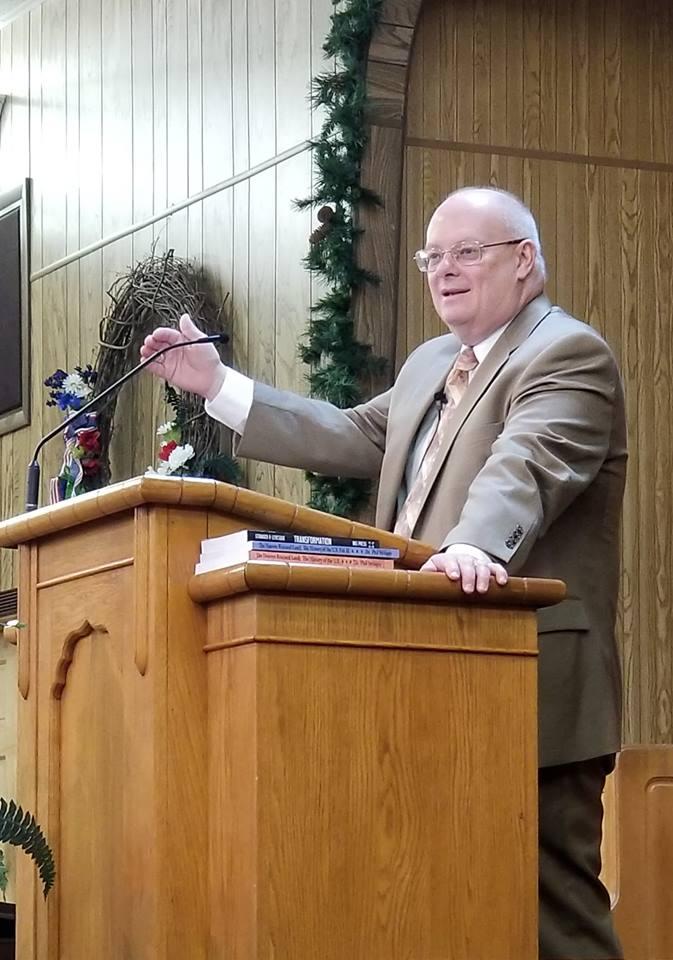 Dr. Phil Stringer preaching at                                   SHBC